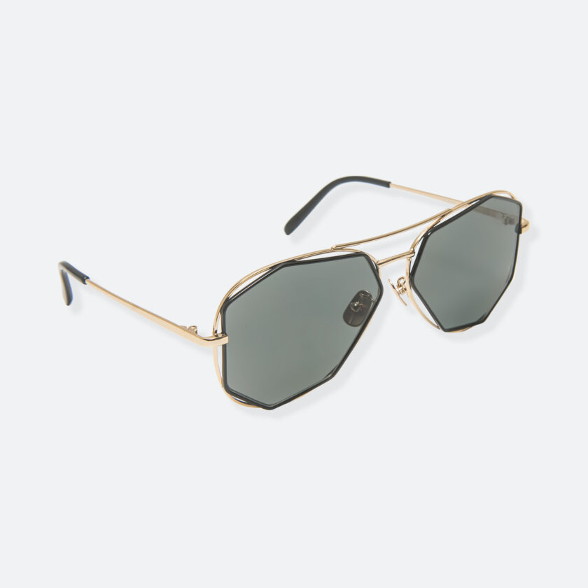OhMart People By People - Aviator Sunglasses With Polarized Lens ( Big Eyes - Black / Gold ) 2