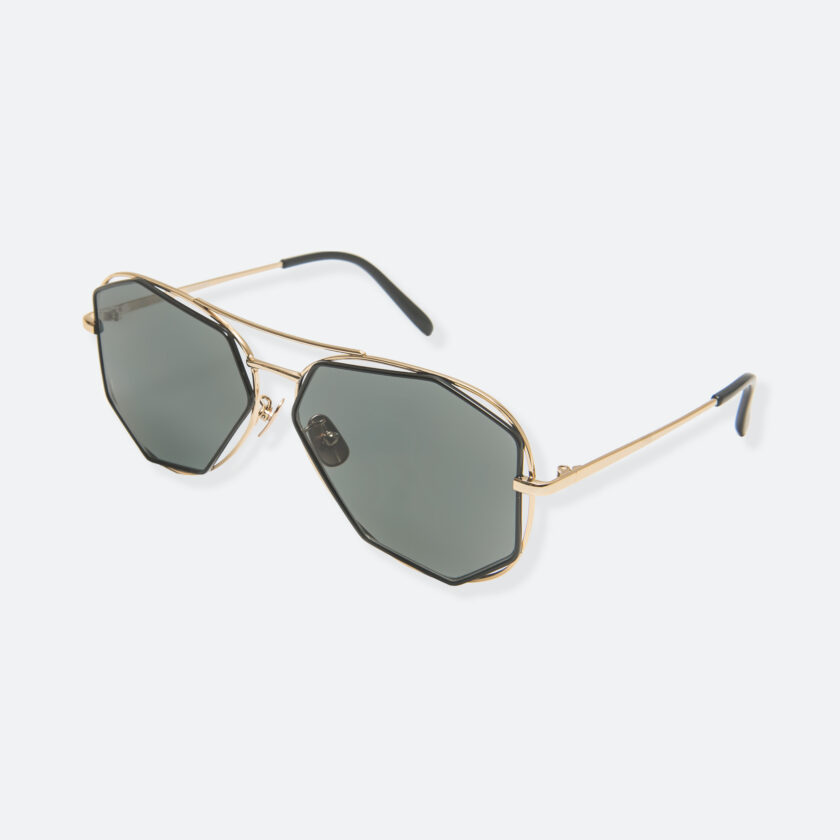 OhMart People By People - Aviator Sunglasses With Polarized Lens ( Big Eyes - Black / Gold ) 3