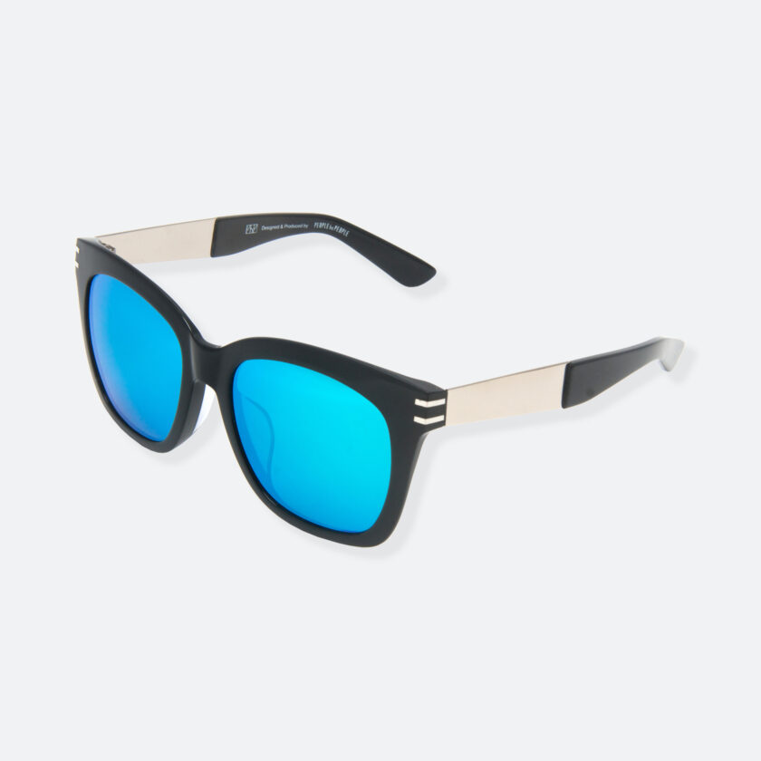 OhMart People By People - Wellington Acetate Sunglasses ( S031 - Light Blue / Black ) 3