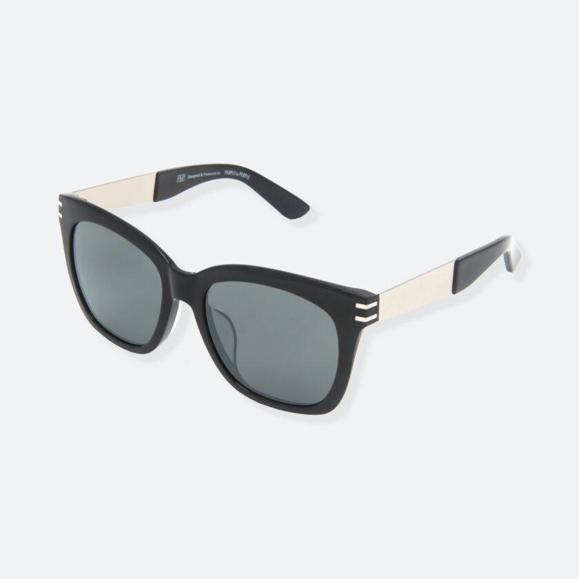 OhMart People By People - Wellington Acetate Sunglasses ( S031 - Dark Gray / Black ) 3
