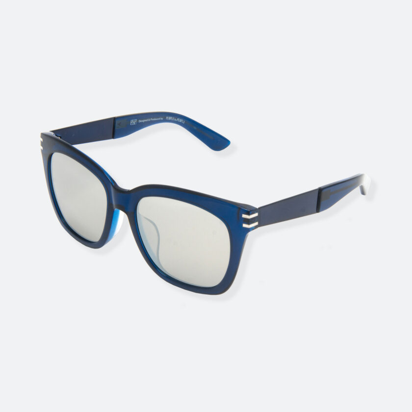 OhMart People By People - Wellington Acetate Sunglasses ( S031 - Light Gray / Transparent Blue ) 3