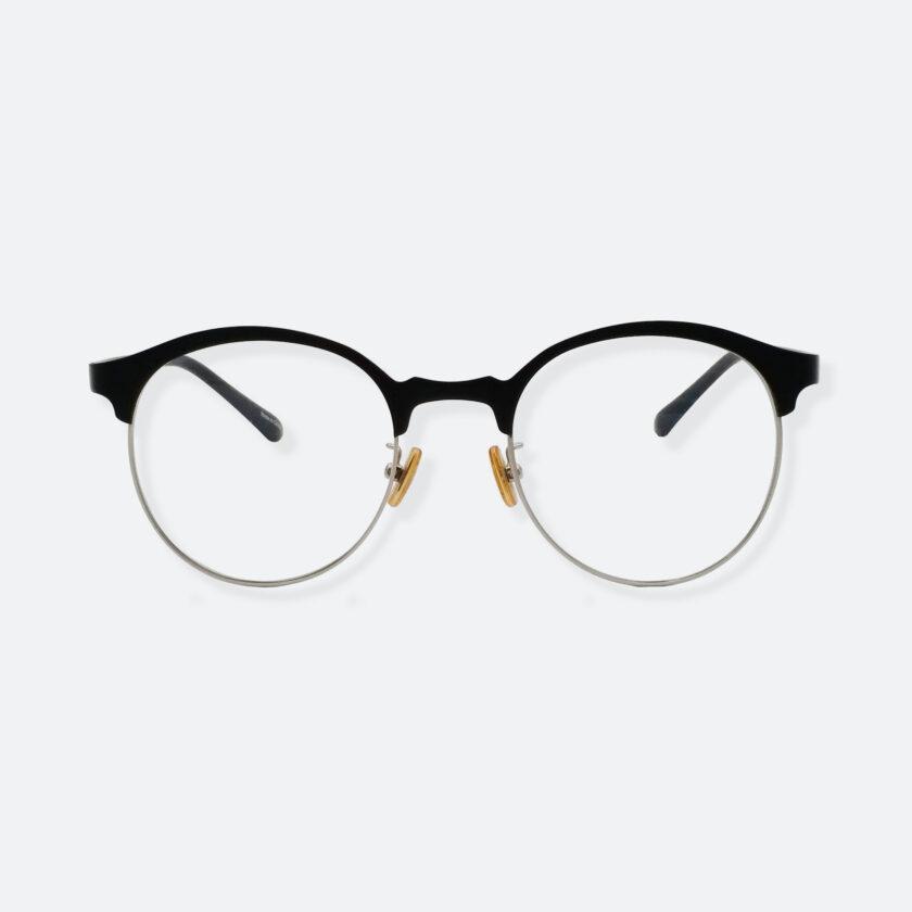 OhMart Textura – Semi-Rimless / Clubmaster Optical Glasses ( TMM023 - Silver ) 1