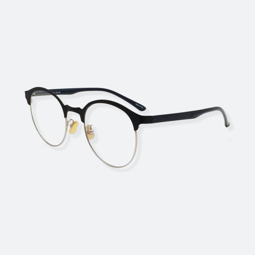 OhMart Textura – Semi-Rimless / Clubmaster Optical Glasses ( TMM023 - Silver ) 2
