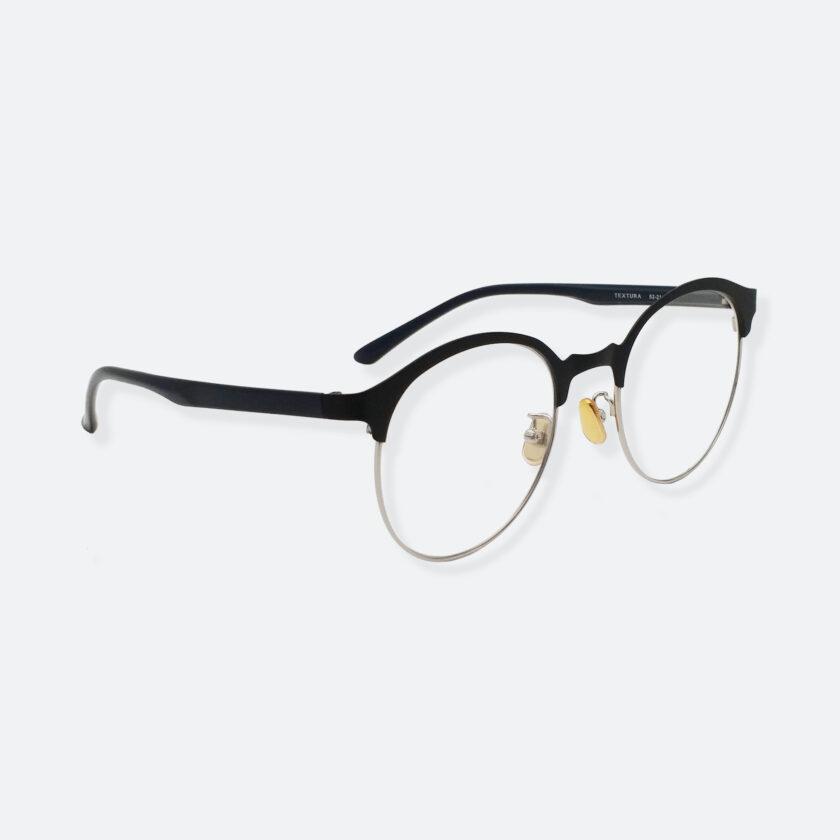 OhMart Textura – Semi-Rimless / Clubmaster Optical Glasses ( TMM023 - Silver ) 3