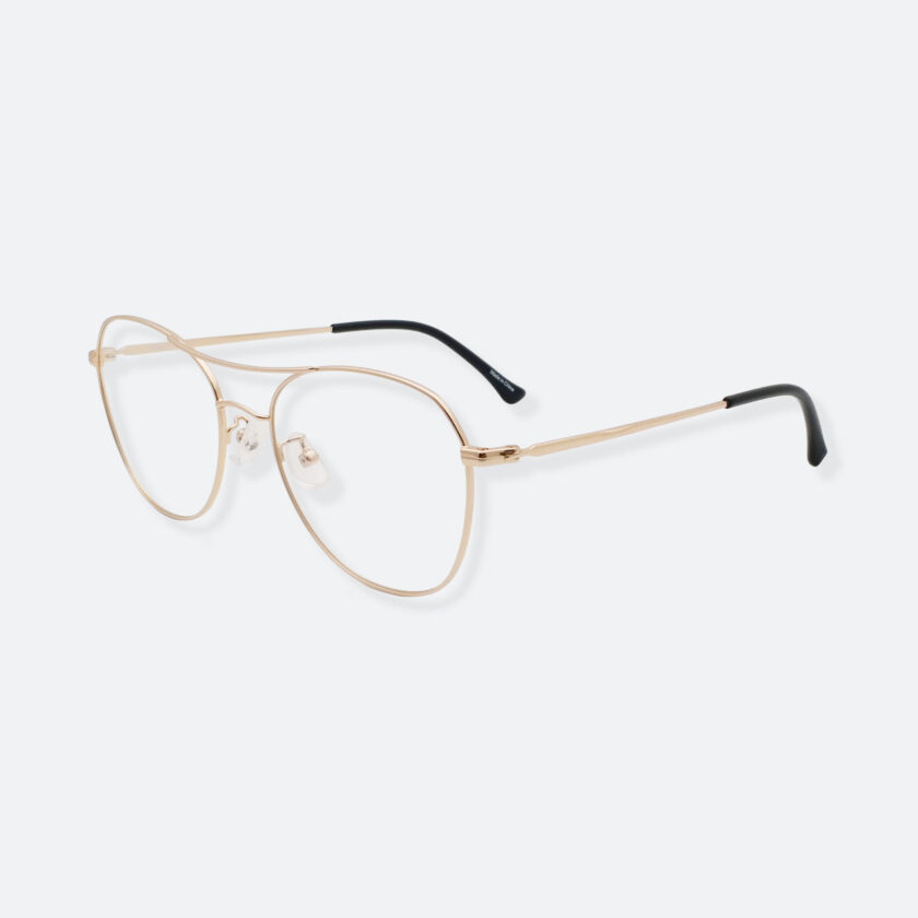 OhMart Textura – Aviator Metal Optical Glasses ( TMM029 - Gold ) 2