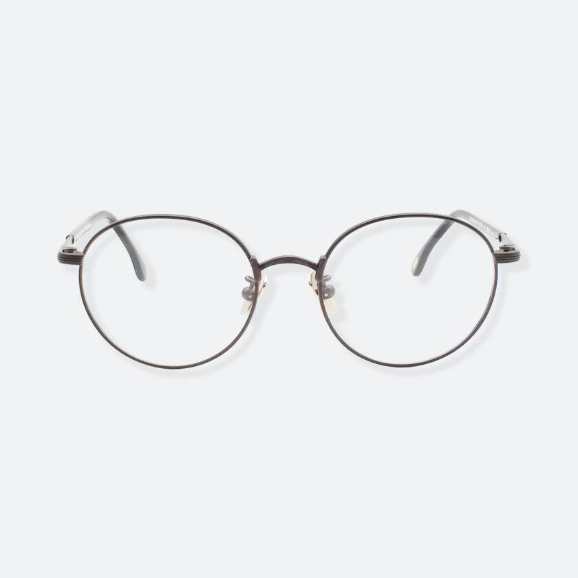 OhMart Textura – Round Metal Optical Glasses ( TMU001 - Shabby Black ) 1
