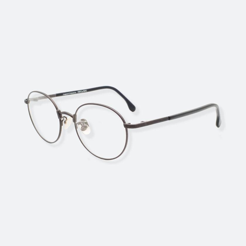 OhMart Textura – Round Metal Optical Glasses ( TMU001 - Shabby Black ) 2