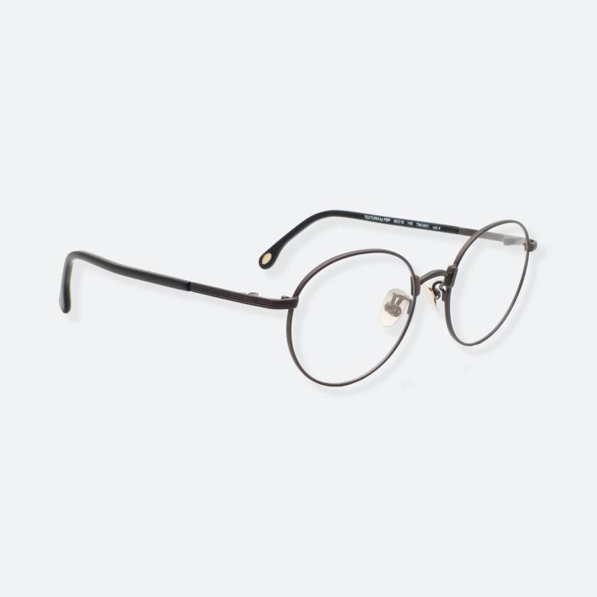 OhMart Textura – Round Metal Optical Glasses ( TMU001 - Shabby Black ) 3