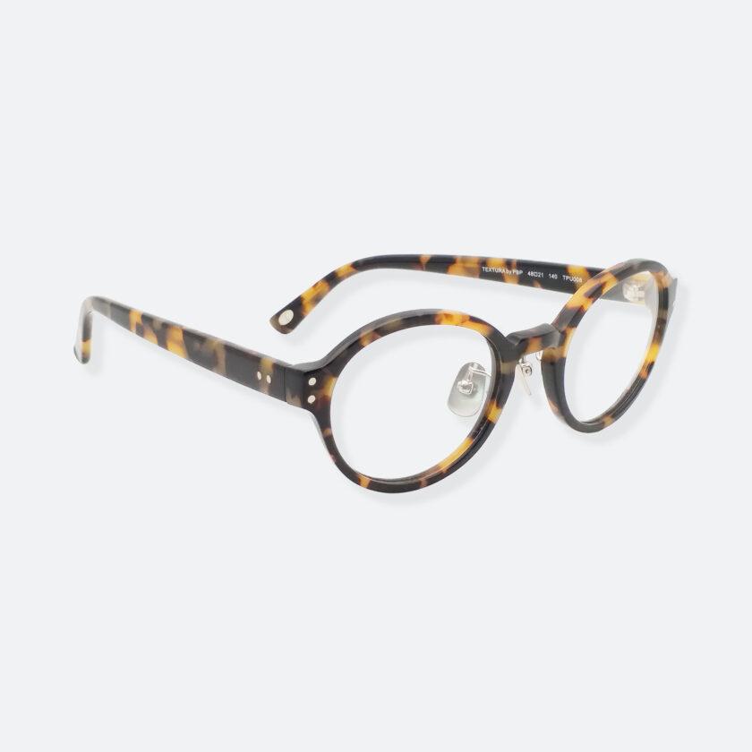 OhMart Textura - Full Framed Bold Optical Glasses ( TPU008 - Tortoiseshell - Light Brown ) 3