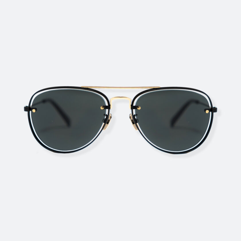 OhMart People By People - Aviator Sunglasses ( S037 - Black / Gold ) 1