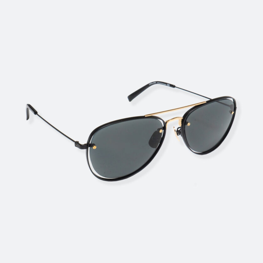 OhMart People By People - Aviator Sunglasses ( S037 - Black / Gold ) 2