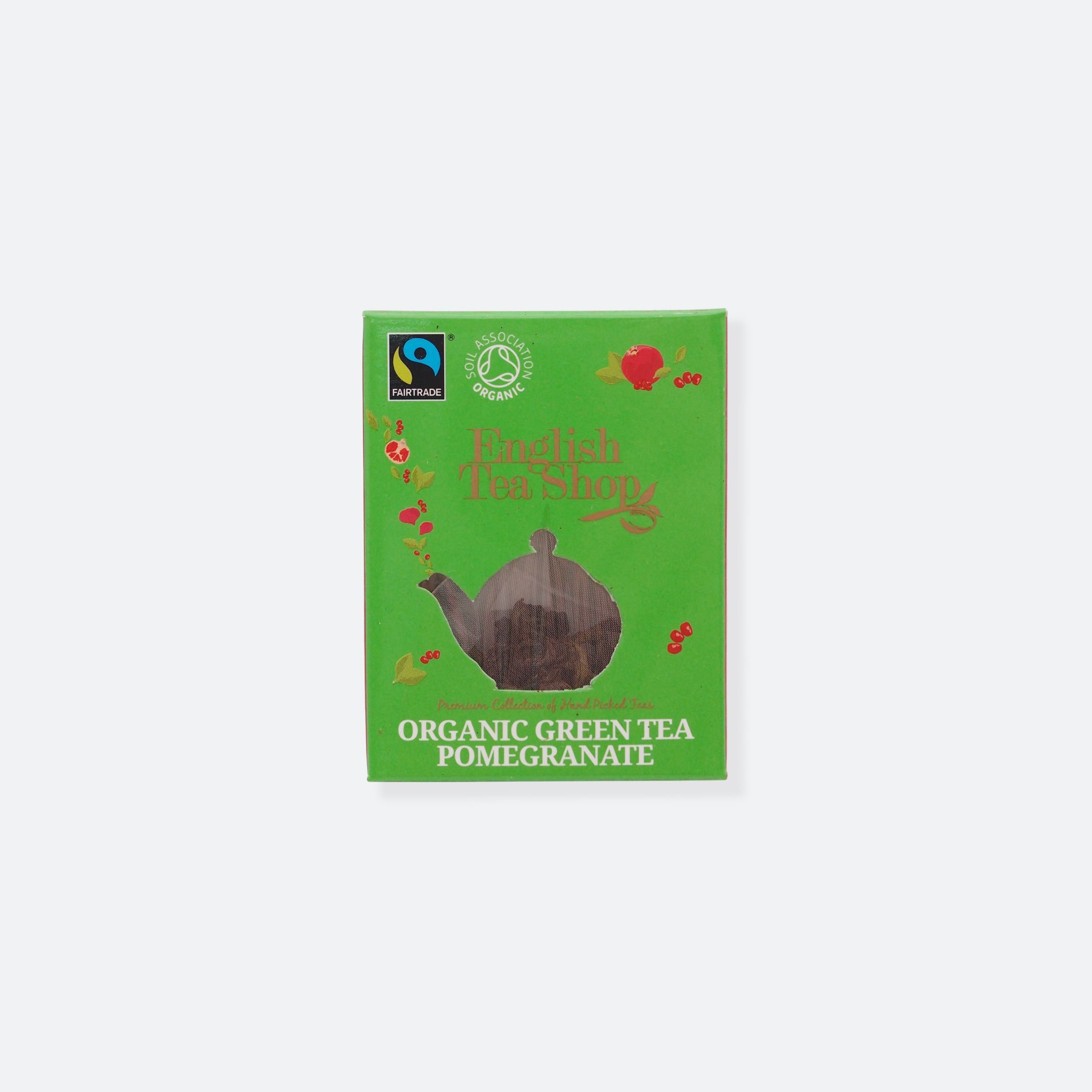 OhMart English Tea Shop - Organic Green Tea Pomegranate 1