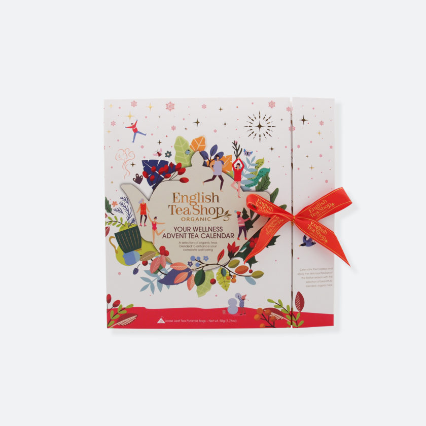 OhMart English Tea Shop Organic - Book Style White Wellness Advent Tea Calendar 1