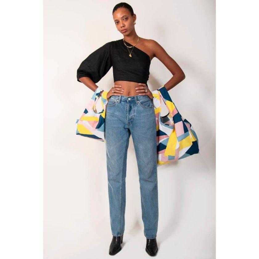 OhMart Kind Bag 100% recycled reusable bag (M) – Mosaic 4
