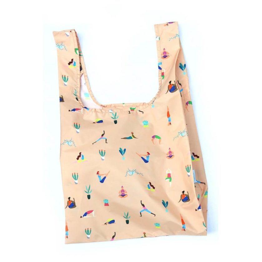 OhMart Kind Bag 100% recycled reusable bag (M) - Yoga Girls 1