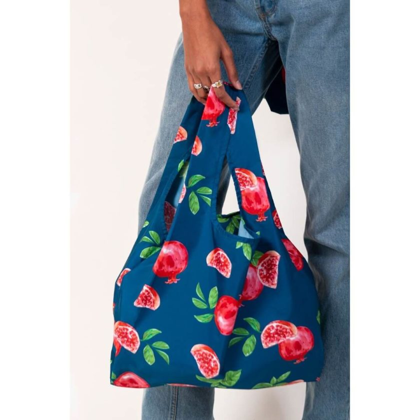 OhMart Kind Bag 100% recycled reusable bag (M) - Pomegranate 4