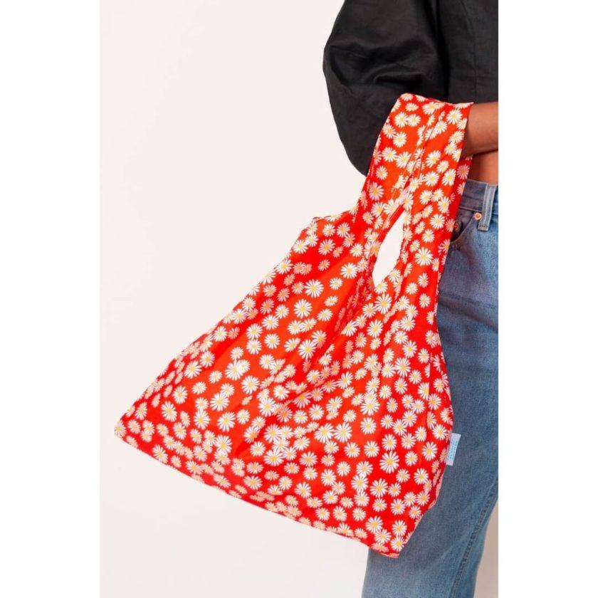 OhMart Kind Bag 100% recycled reusable bag (M) - Daisy 5