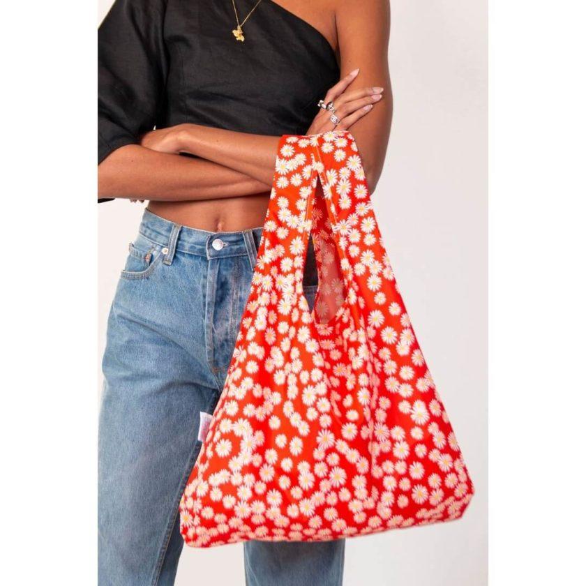 OhMart Kind Bag 100% recycled reusable bag (M) - Daisy 4