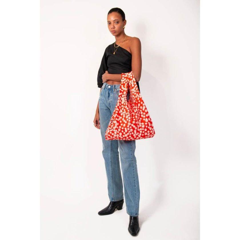 OhMart Kind Bag 100% recycled reusable bag (M) - Daisy 3