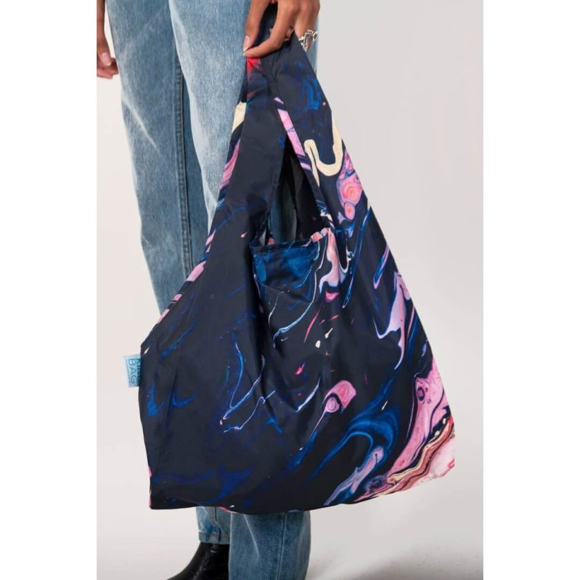 OhMart Kind Bag 100% recycled reusable bag (M) - Galaxy Marble 4