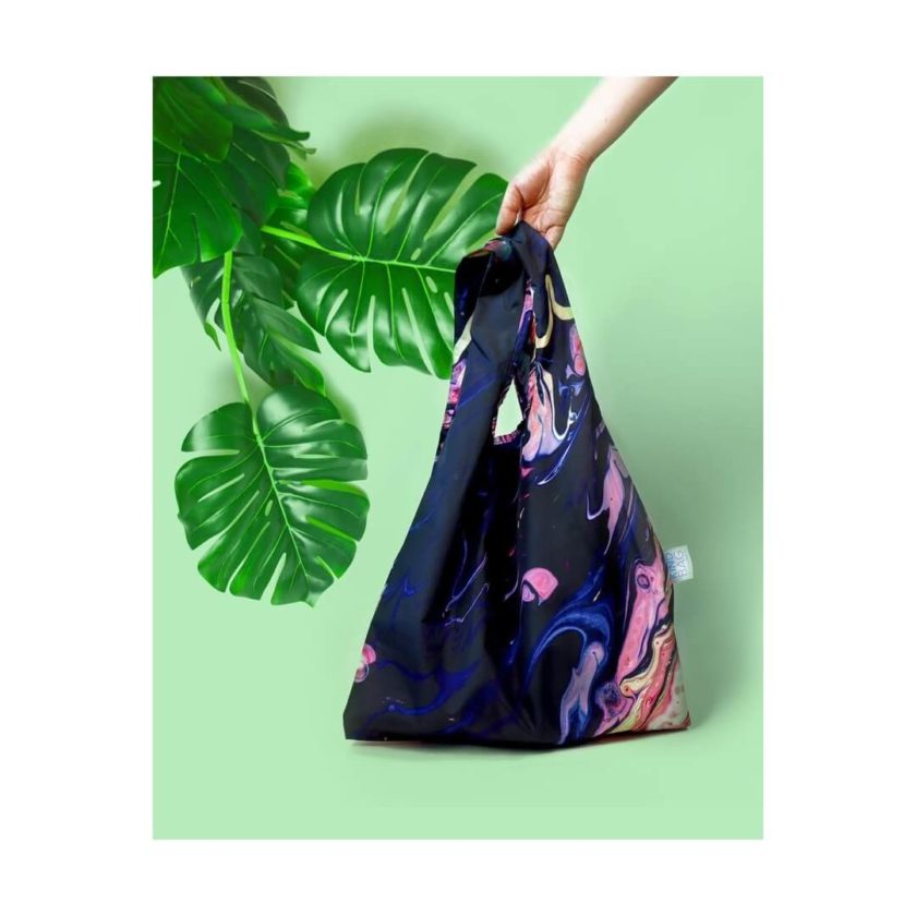 OhMart Kind Bag 100% recycled reusable bag (M) - Galaxy Marble 2